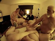 Fat obese mature gangbang older swingers showing they still do it